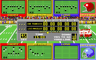 ABC Monday Night Football Amiga Choose a play.