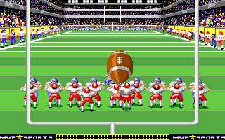 ABC Monday Night Football Amiga Extra-point kick.