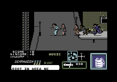 Death Wish 3 Commodore 64 I start out with a rocket launcher.