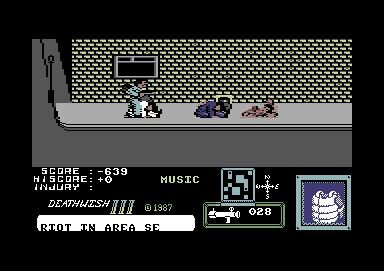 Death Wish 3 Commodore 64 Rocket launchers do nasty things to enemies.