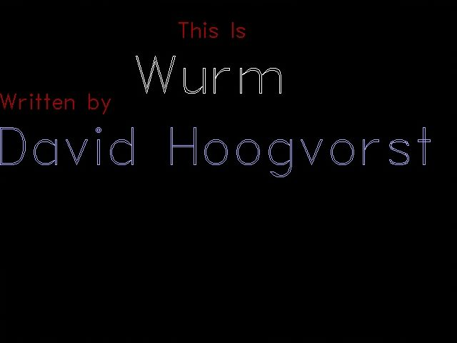 Wurm DOS Title screen