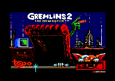 Gremlins 2: The New Batch Amstrad CPC Title screen
