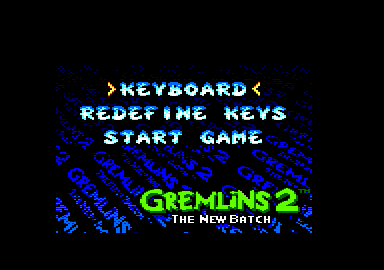 Gremlins 2: The New Batch Amstrad CPC Main menu