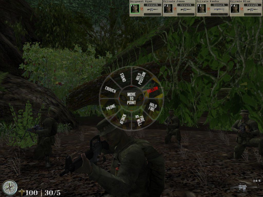 Elite Warriors: Vietnam Windows Using the radial menu