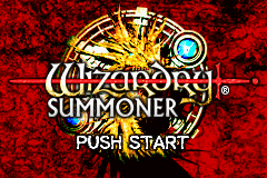 Wizardry: Summoner Game Boy Advance Title screen