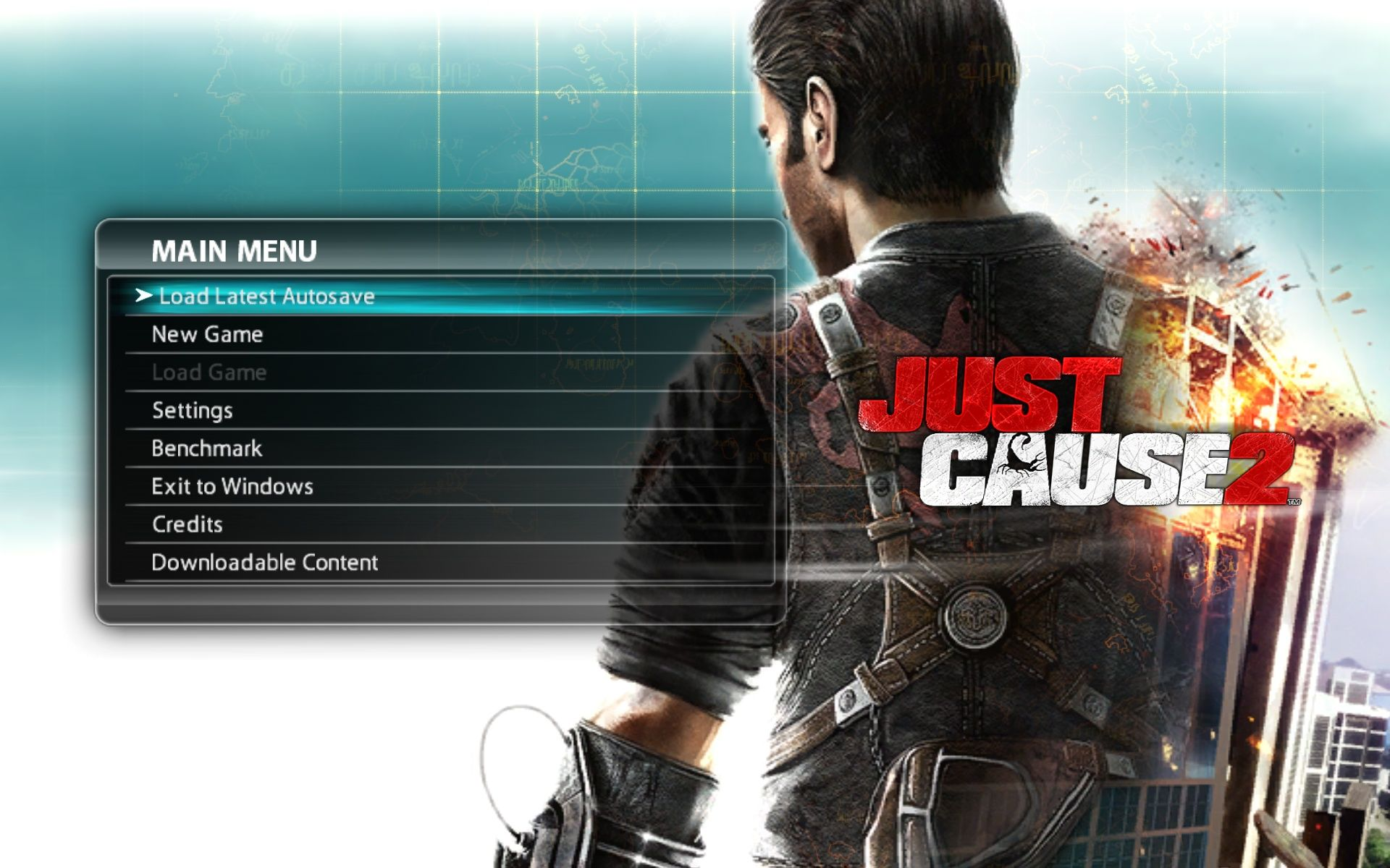 Just Cause 2 Windows Main Menu