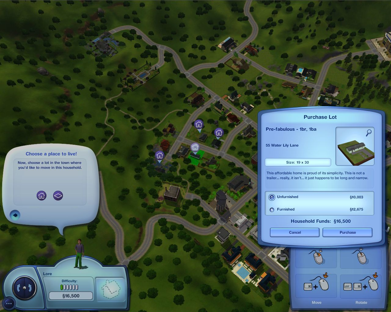 The Sims 3 Macintosh Buying a house: We can't be too picky - our budget is limited