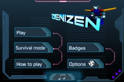 Denizen iPhone Main Menu