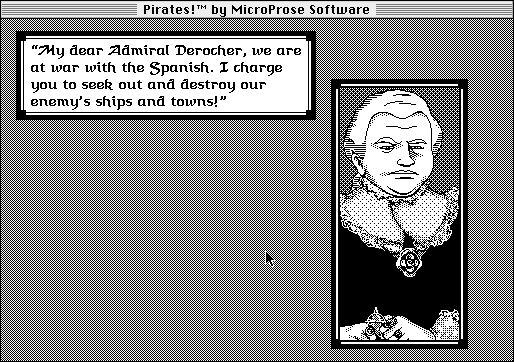 Sid Meier's Pirates! Macintosh Talking with a governor.