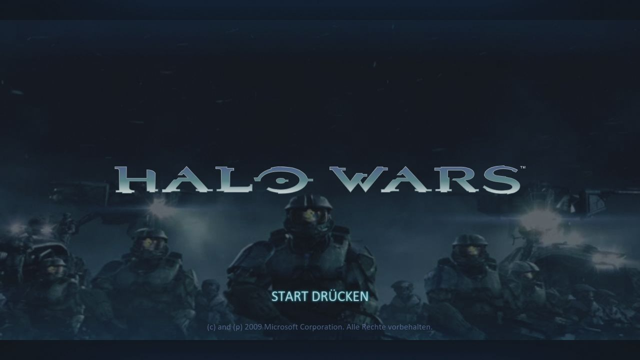 Halo Wars Xbox 360 Title Screen