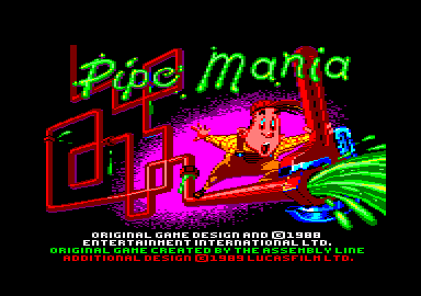 Pipe Dream Amstrad CPC Title screen