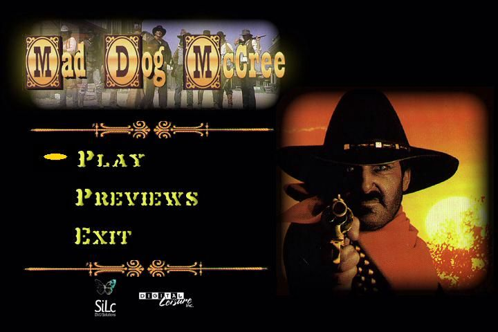 Mad Dog McCree Windows Main Selection Screen.