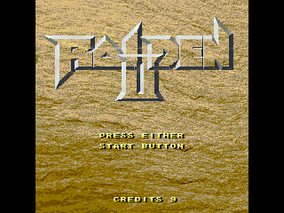 Raiden II Windows Title screen