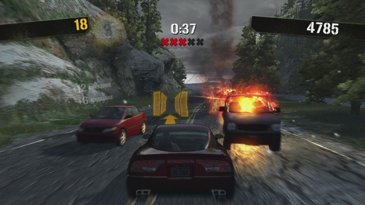 Stuntman: Ignition Xbox 360 ... and then the gap. Yellow icons on the track always remind us what to do.