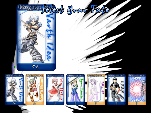 Fate Axis Windows Character selection