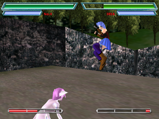 Fate Axis Windows Iria jump from another angle.