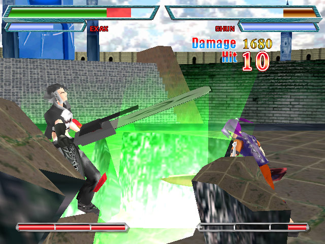 Fate Axis Windows Exax versus Shun