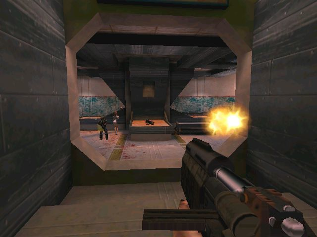Requiem: Avenging Angel Windows Typical firefight with innocent bystanders