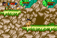Prehistorik Man Game Boy Advance On the other side of the cave.