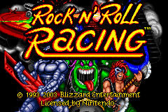 Rock n' Roll Racing Game Boy Advance Title screen
