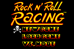 Rock n' Roll Racing Game Boy Advance New game, load a game or play with multi-link cable?