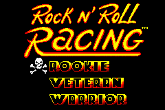 Rock n' Roll Racing Game Boy Advance Select your difficulty