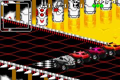 Rock n' Roll Racing Game Boy Advance Starting line on race 1