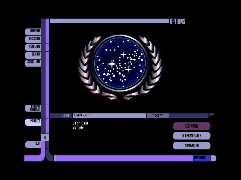 Star Trek: Starship Creator Warp II Windows Main menu
