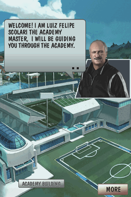 Football Academy Nintendo DS Scolari welcomes us to the academy