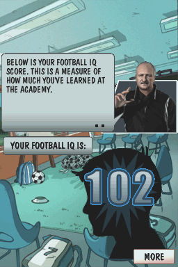 Football Academy Nintendo DS After completing the test I get my football IQ score