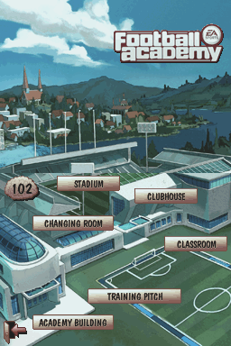 Football Academy Nintendo DS Academy menu