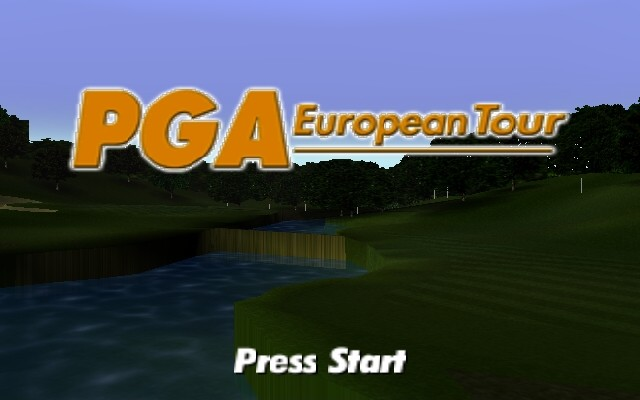 PGA European Tour Nintendo 64 Title screen