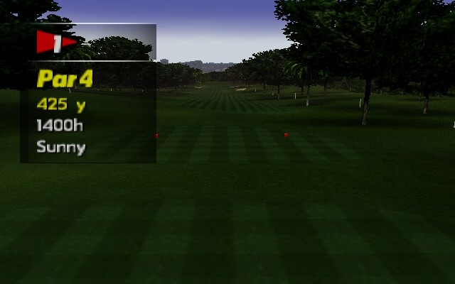 PGA European Tour Nintendo 64 The first hole is par 4