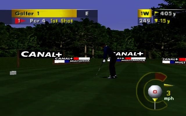 PGA European Tour Golf Nintendo 64 Approaching the tee for your first stroke.