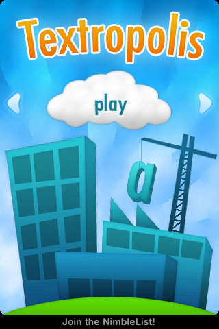 Textropolis iPhone Title screen