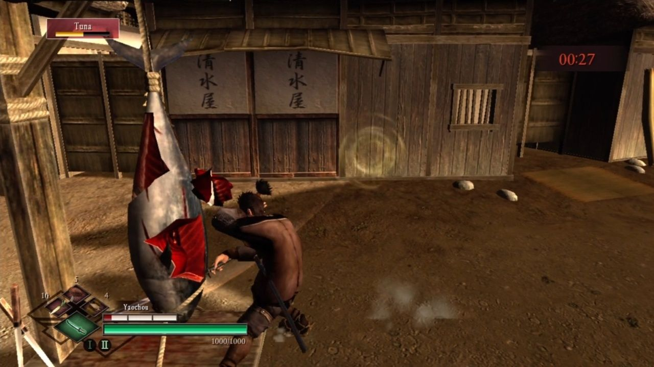 Way of the Samurai 3 Xbox 360 Slashing some fearsome tuna