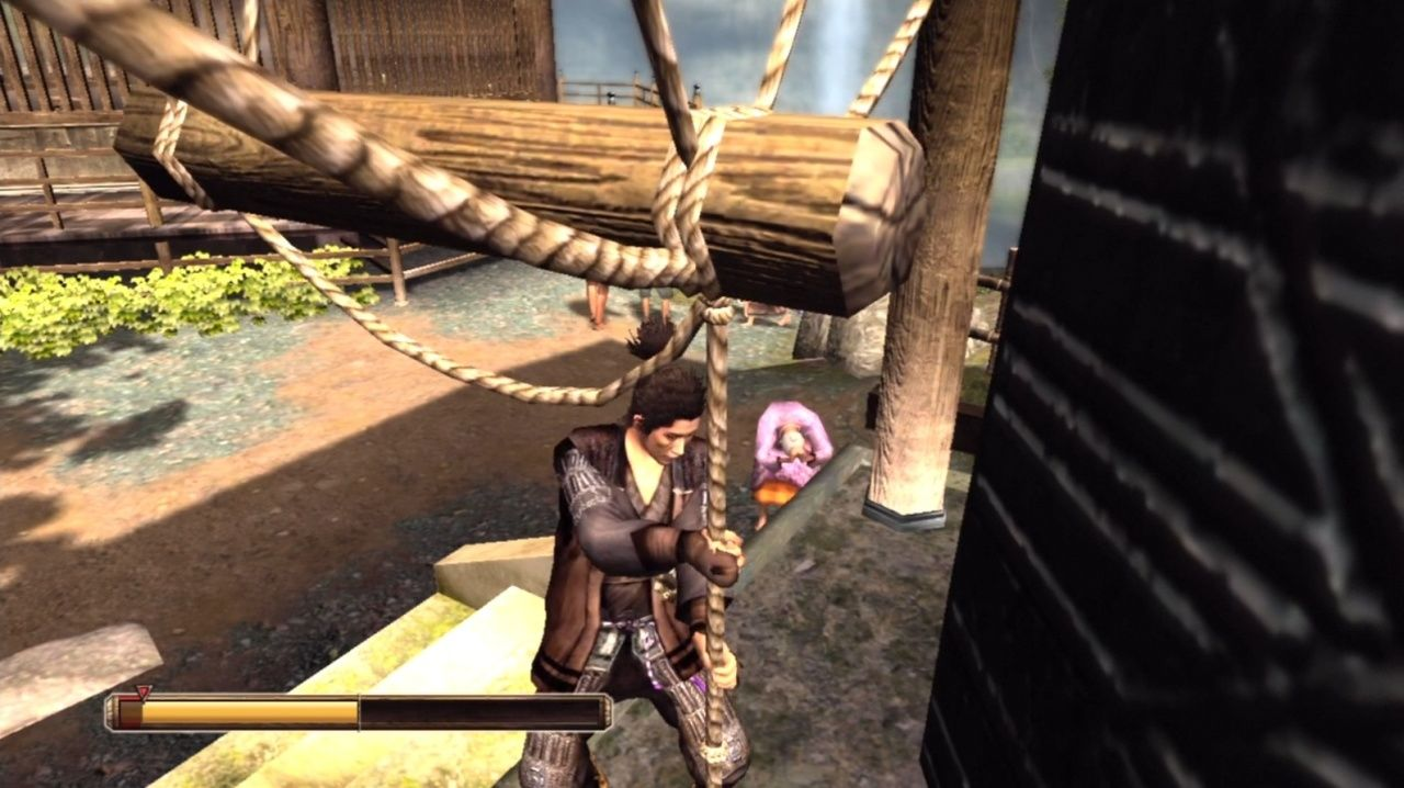 Way of the Samurai 3 Xbox 360 Another mini-game: ring the bell