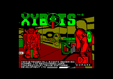 Xybots Amstrad CPC Loading screen