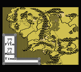 J.R.R. Tolkien's War in Middle Earth MSX Starting the game