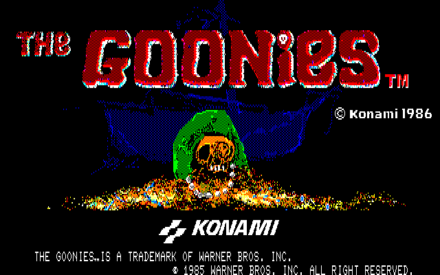 The Goonies PC-88 Title screen