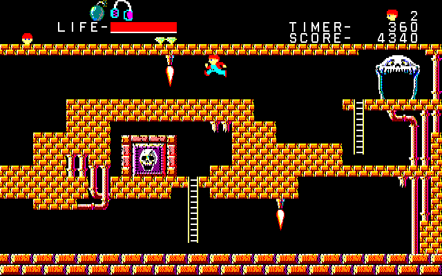The Goonies PC-88 The next stage adds more traps