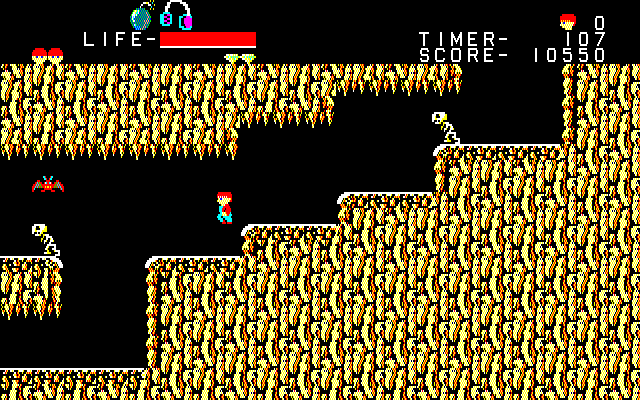 The Goonies PC-88 Third stage sends Mikey even deeper underground