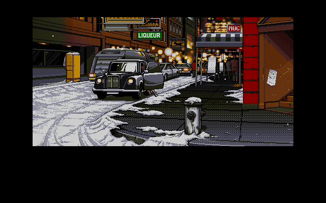 Policenauts PC-98 A client is about to ask Jonathan a service