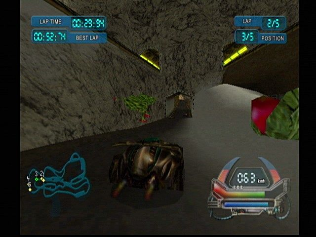 POD SpeedZone Dreamcast Tracks have moving hazards.