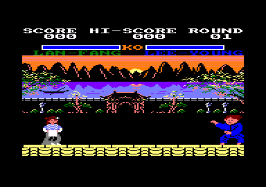 Yie Ar Kung-Fu 2: The Emperor Yie-Gah Amstrad CPC A two player match, round one.
