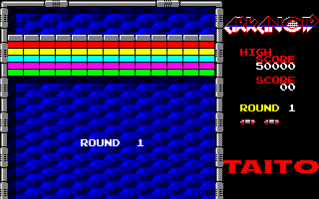 Arkanoid PC-88 First stage. Break all the blocks!