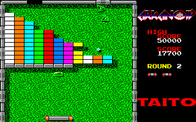 Arkanoid PC-88 Getting the ball on top of the blocks if often an effective strategy