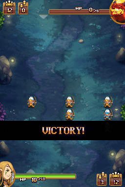 Might & Magic: Clash of Heroes Nintendo DS Another glorious victory for the elves!
