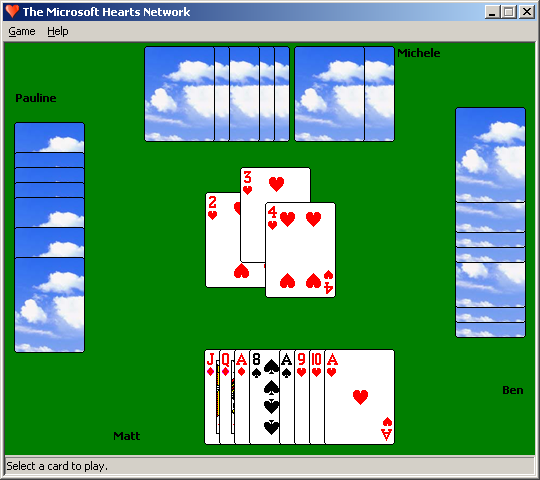hearts microsoft game