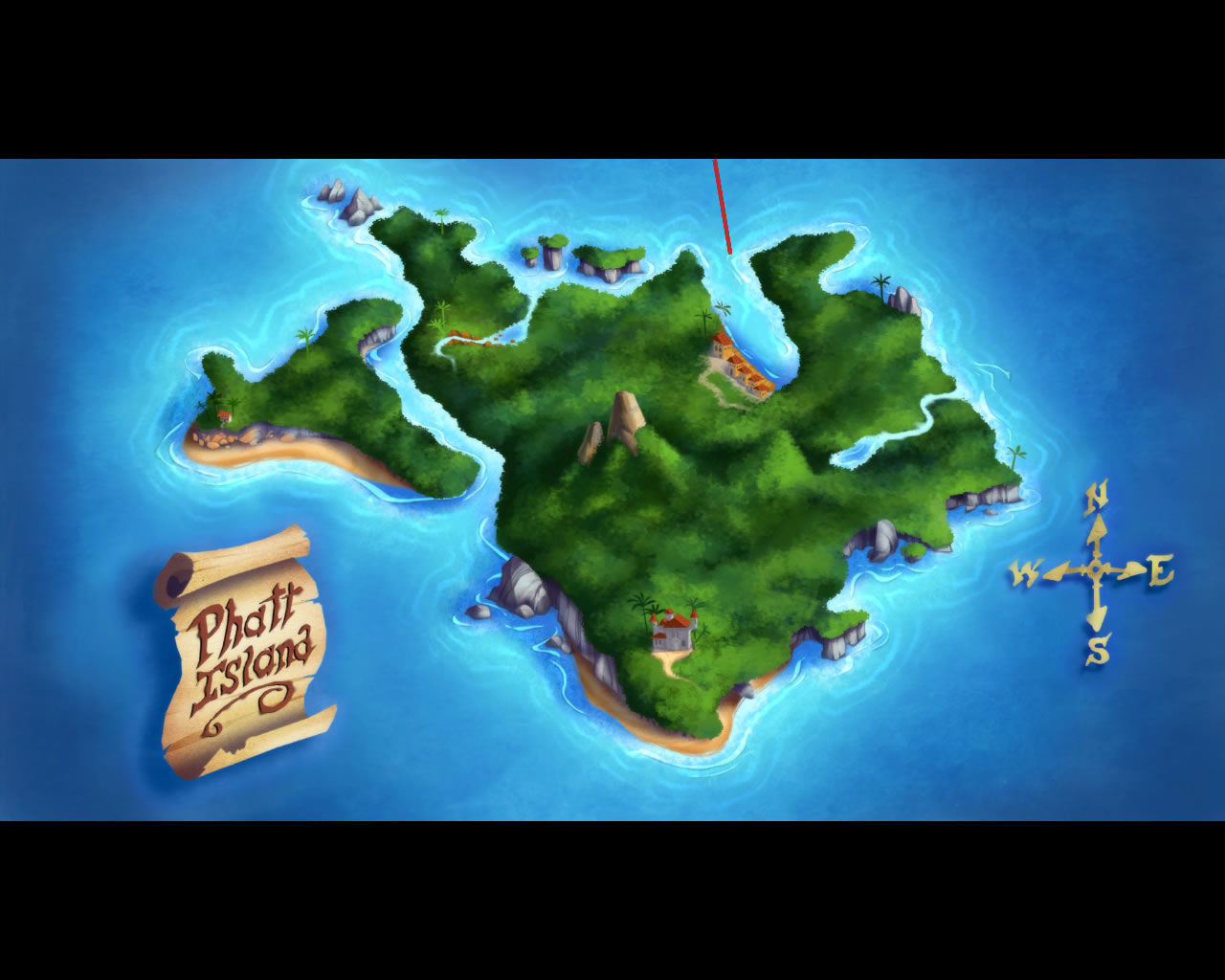 Monkey Island 2: LeChuck's Revenge - Special Edition Windows Every island has an overhead shot
